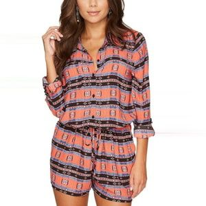 NWT JACK BY bb DAKOTA Gregg Printed Romper SMALL